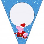 Bandeirinha Varalzinho Peppa Pig Natal