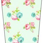 Bisnaga Brigadeiro Flip Top Floral Verde e Rosa