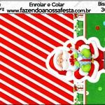 Bisnaga Brigadeiro Natal Vermelho e Verde