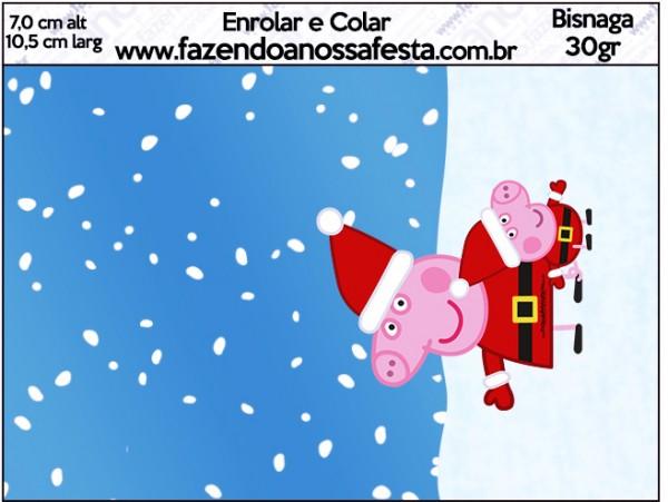 Bisnaga Brigadeiro Peppa Pig Natal