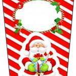 Bisnaga Flip Top Natal Vermelho e Verde