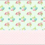 Bolinha de Sabão Floral Verde e Rosa