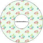 CD DVD Floral Verde e Rosa