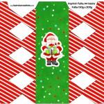 Caixa Bala Natal Vermelho e Verde