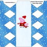 Caixa Bala Peppa Pig Natal