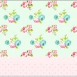 Caixa Bombom 1 Floral Verde e Rosa