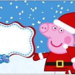 Caixa Bombom rótulo Peppa Pig Natal