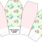 Caixa China in Box Floral Verde e Rosa