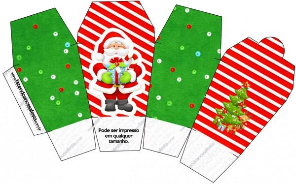 Caixa China in Box Natal Vermelho e Verde