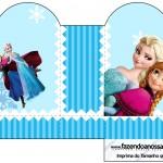 Caixa Coração Frozen Azul