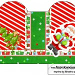 Caixa Coração Natal Vermelho e Verde