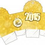 Caixa Cupcake Ano Novo 2015.