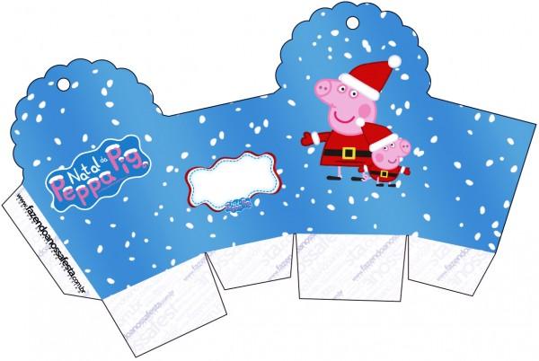 Caixa Cupcake Peppa Pig Natal