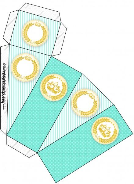 Caixa Fatia Coroa de Príncipe Verde