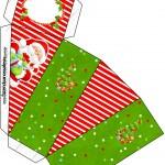 Caixa Fatia Natal Vermelho e Verde
