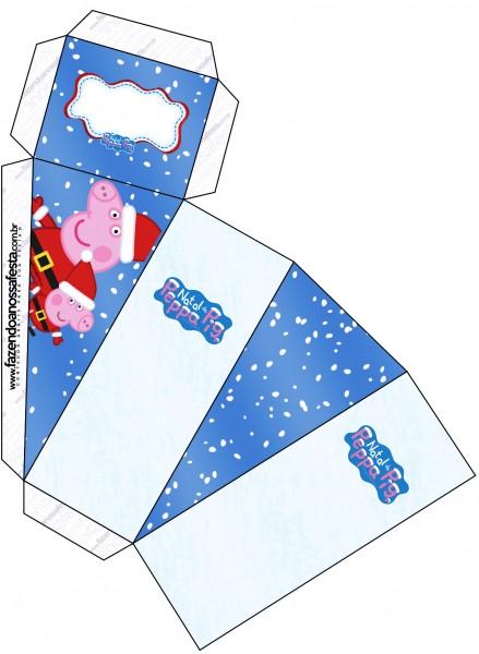 Caixa Fatia Peppa Pig Natal