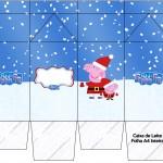 Caixa Leite Peppa Pig Natal