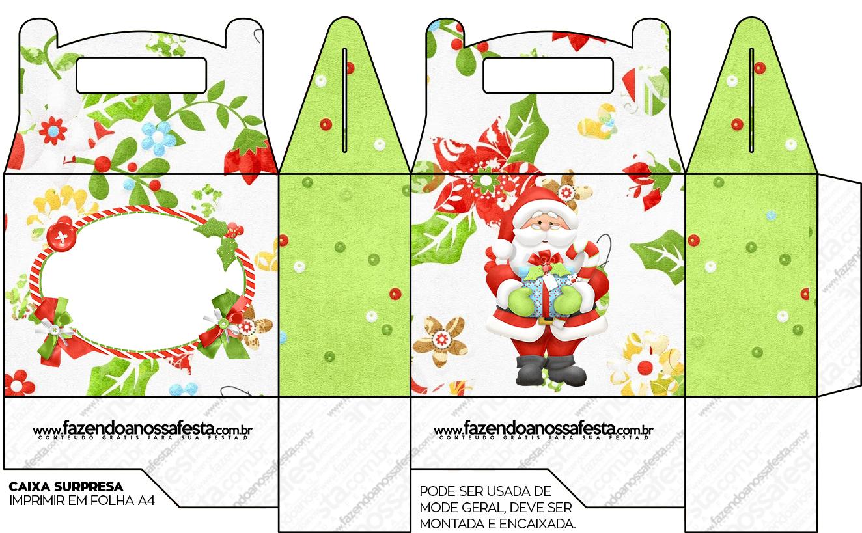 Caixa Lembrancinha Surpresa Natal Fazendo A Nossa Festa