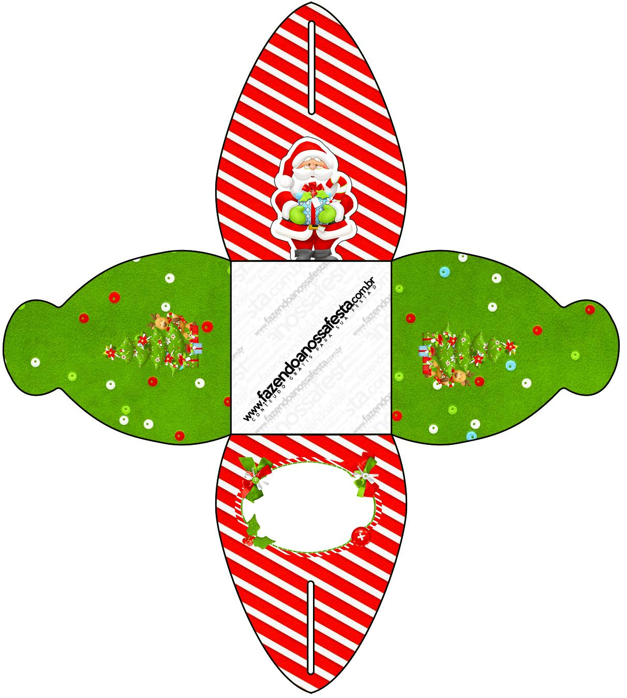 Caixa Natal Vermelho E Verde 1 Fazendo A Nossa Festa