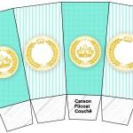Caixa Pipoca Coroa de Príncipe Verde