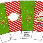 Caixa Pipoca Natal Vermelho e Verde