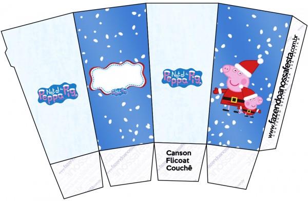 Caixa Pipoca Peppa Pig Natal