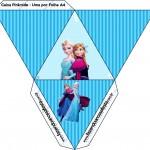 Caixa Pirâmide Frozen Azul