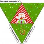 Caixa Pirâmide Natal Vermelho e Verde