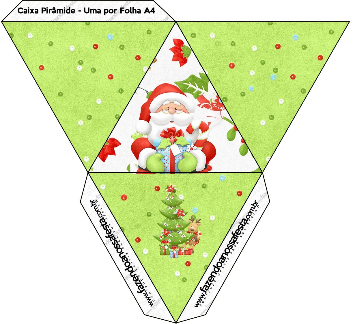 Caixa Piramide Natal Fazendo A Nossa Festa