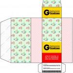 Caixa Remédio Floral Verde e Rosa