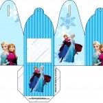 Caixa com Foto Frozen Azul