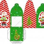Caixa com Foto Natal Vermelho e Verde