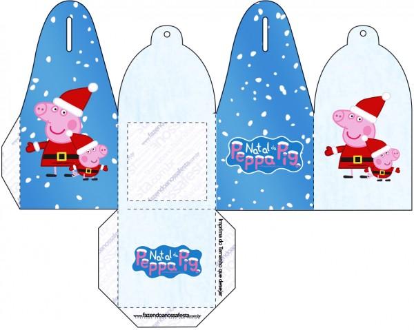 Caixa com Foto Peppa Pig Natal