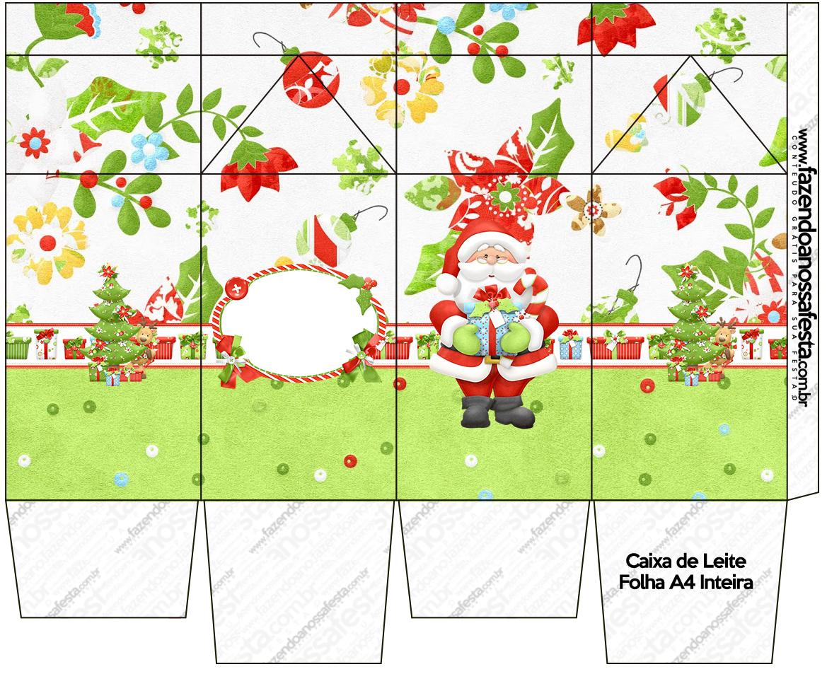 Caixa De Leite Natal Fazendo A Nossa Festa