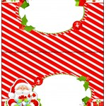 Cartão Agradecimento Natal Vermelho e Verde
