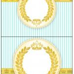 Cartão Agradecimento de Mesa Coroa de Príncipe Verde