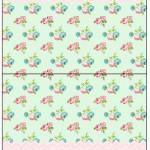 Cartão Agradecimento de Mesa Floral Verde e Rosa