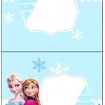 Cartão Agradecimento de Mesa Frozen Azul