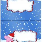 Cartão Agradecimento de Mesa Peppa Pig Natal