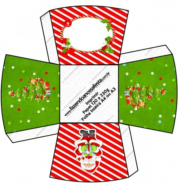 Chachepô de Mesa Natal Vermelho e Verde