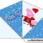 Cone Guloseimas 4 lados Peppa Pig Natal