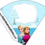 Cone Guloseimas Frozen Azul
