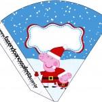 Cone Guloseimas Peppa Pig Natal