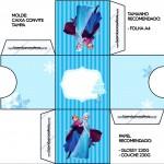 Convite Caixa Tampa Frozen Azul