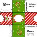 Convite Caixa Tampa Natal Vermelho e Verde