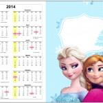 Convite Calendário 2014 1 Frozen Azul