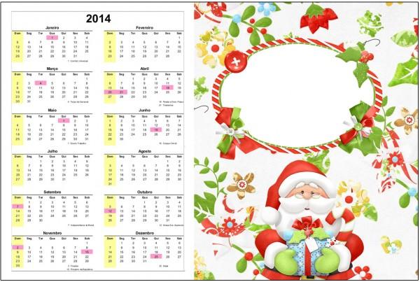 Convite Calendário 2014 1 Natal