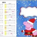 Convite Calendário 2014 1 Peppa Pig Natal