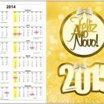 Convite Calendário 2014 Ano Novo 2015 2