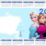 Convite Calendário 2014 Frozen Azul